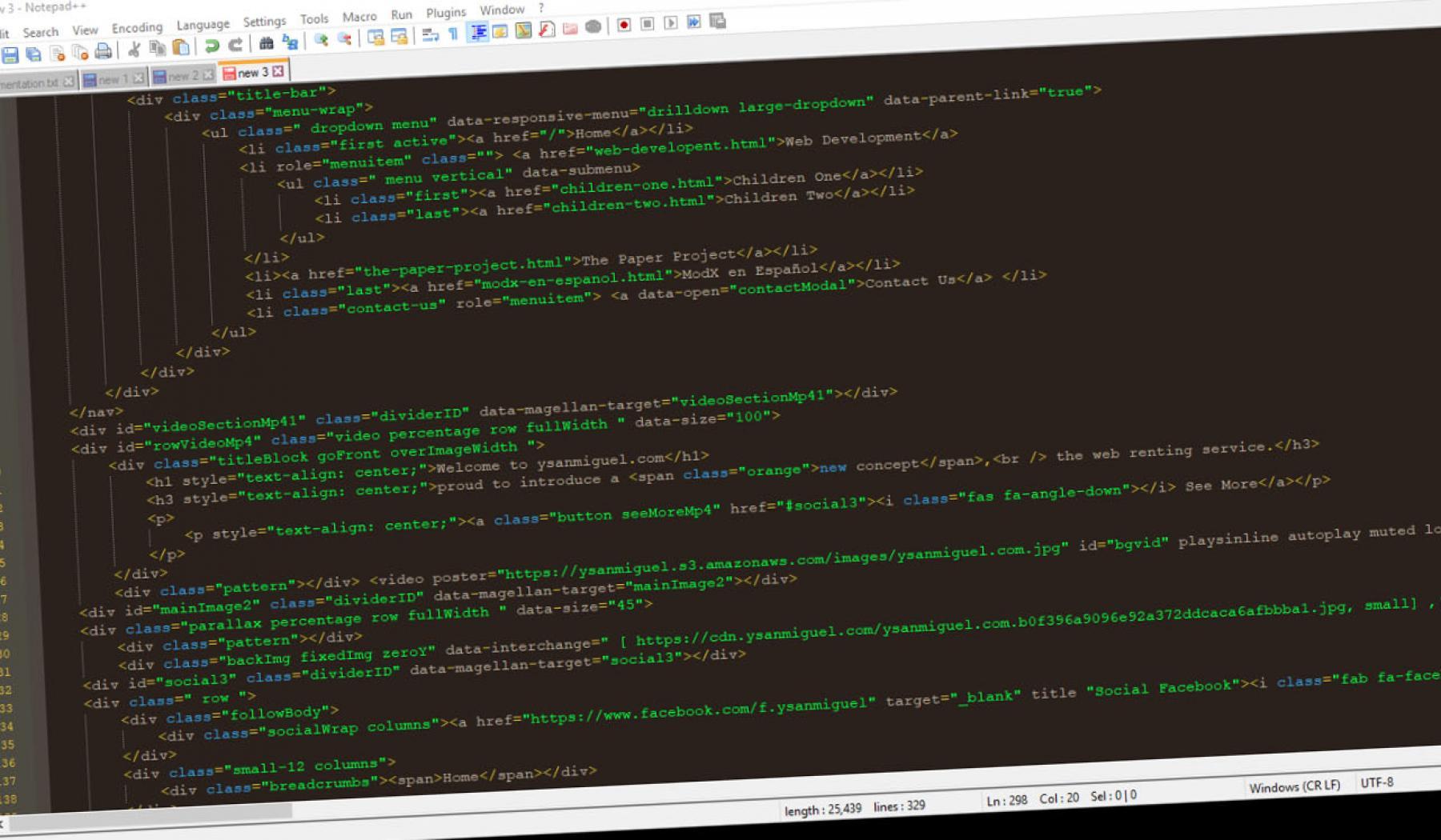 ysanmiguel.com web development