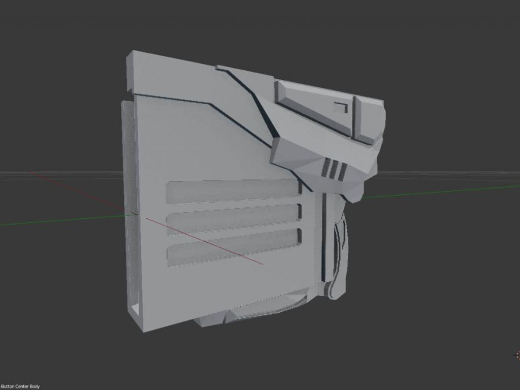 Gear of Wars paper lancer real size scale section B