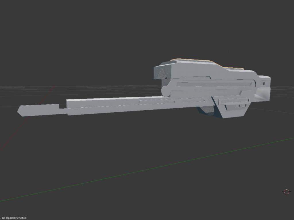Gear of Wars paper lancer real size scale section C