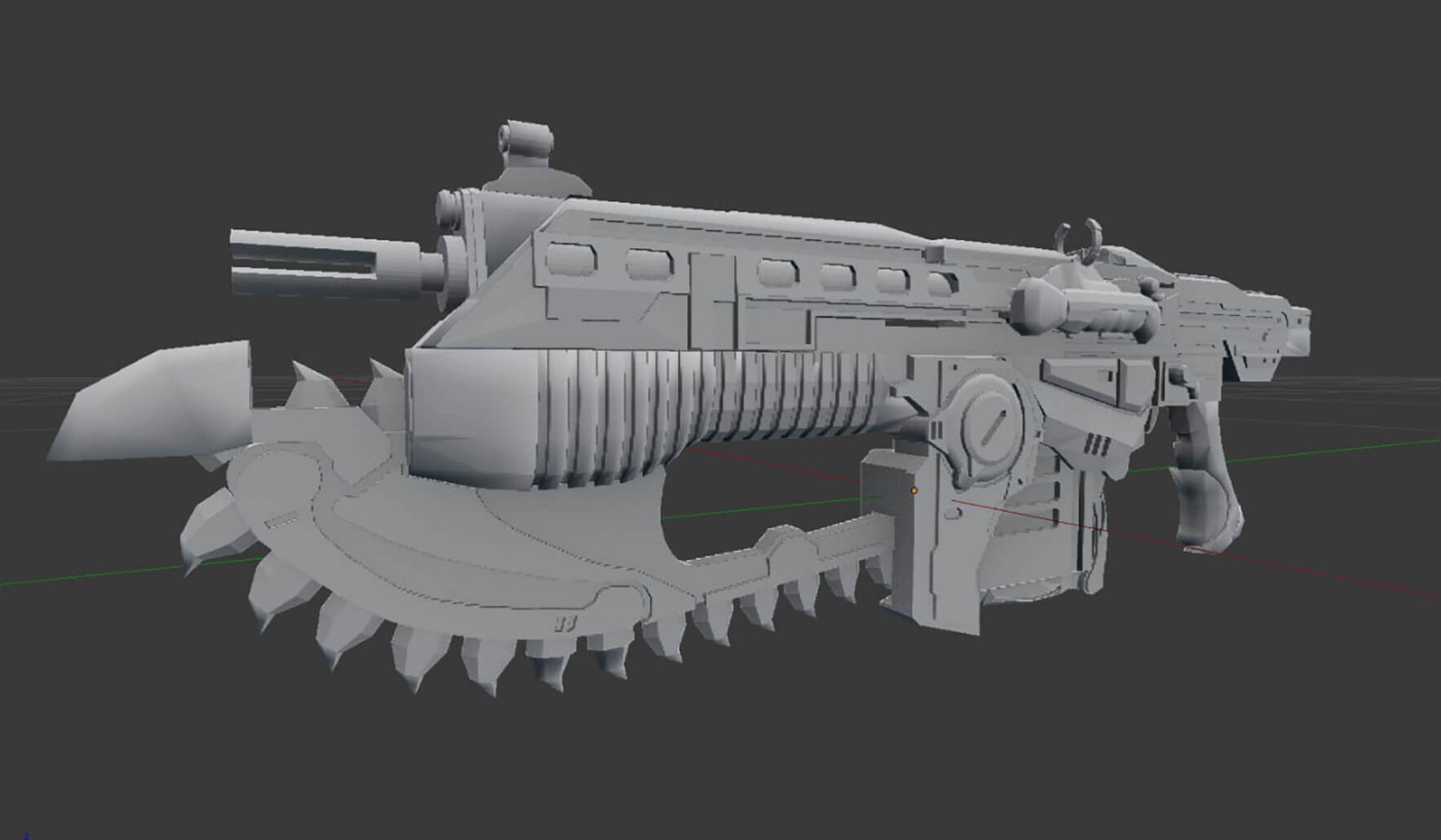 ysaniguel.com Lancer Gear of Wars Paper Model 1:1
